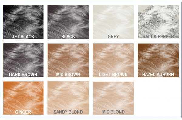 Mane Hair Thickening Fibres shades