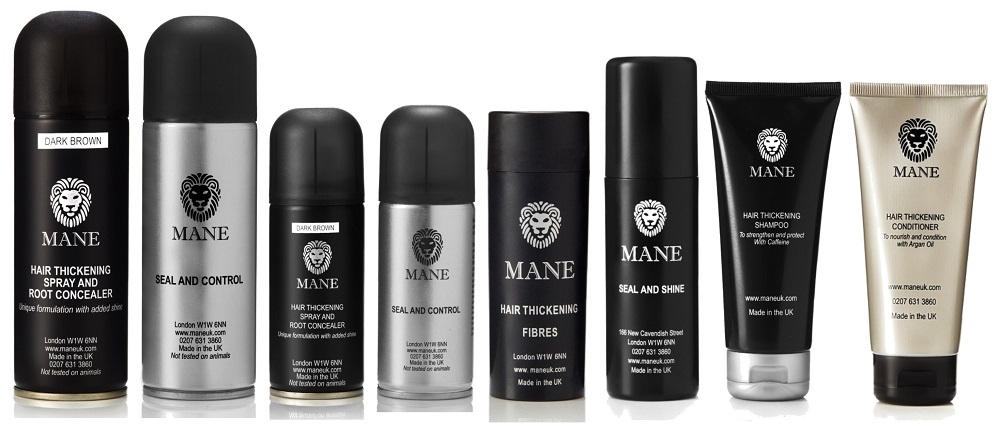 mane uk hair thickening products range