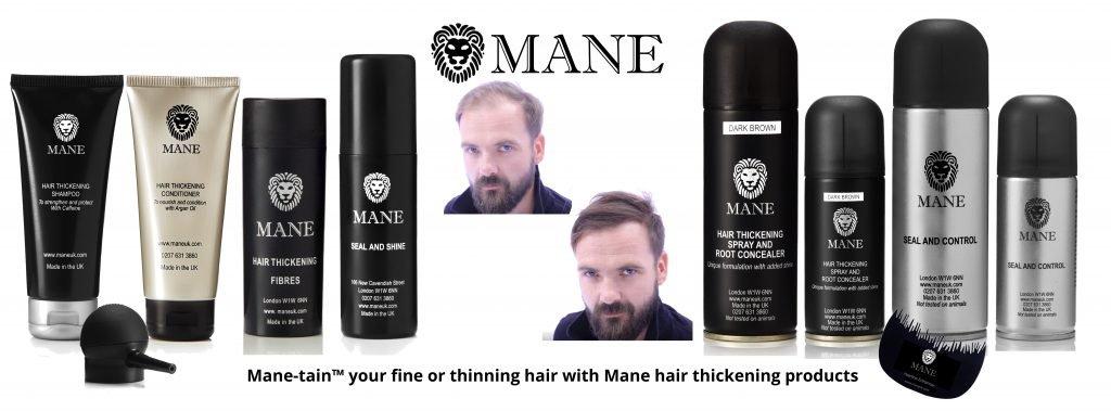 Mane Hair Thickening Hair Care range
